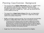 planning case exercise background