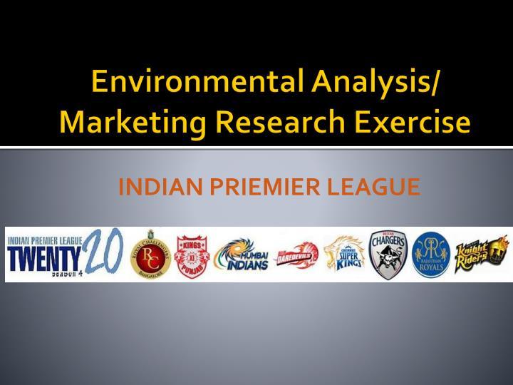Environmental Analysis/ Marketing Research Exercise