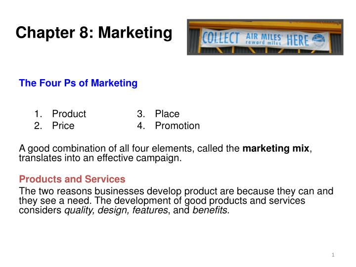 chapter 8 marketing n.