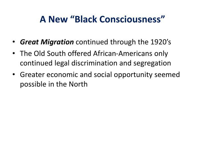 """A New """"Black Consciousness"""""""