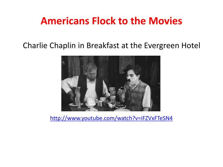 Americans Flock to the Movies