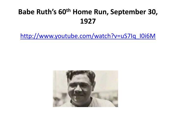Babe Ruth's 60