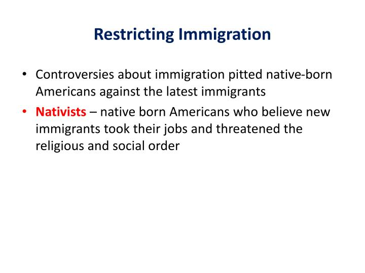 Restricting Immigration