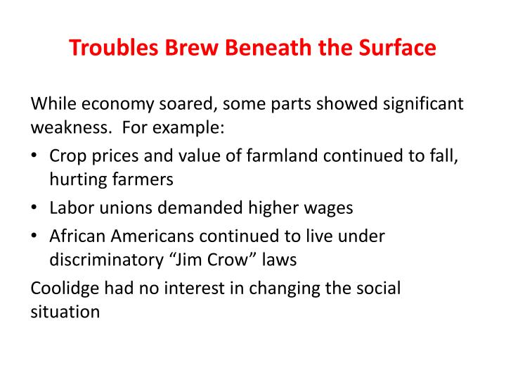 Troubles Brew Beneath the Surface