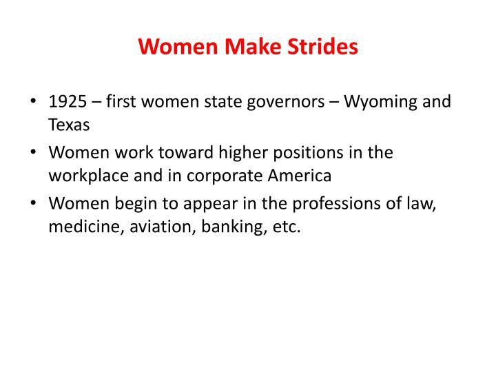 Women Make Strides