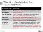 what kind of architecture does togaf deal with