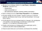 primary management practices for strategy