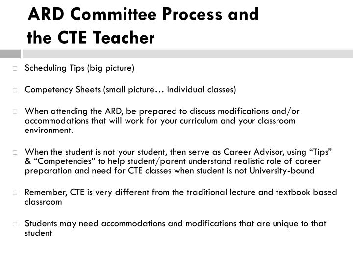 ARD Committee Process and