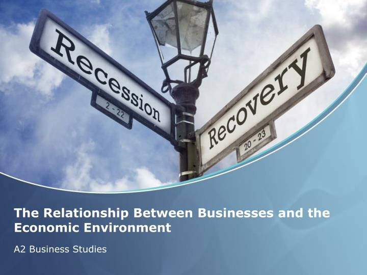 the relationship between businesses and the economic environment n.