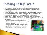 choosing to buy local