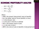 economic profitability analysis