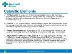catalytic elements