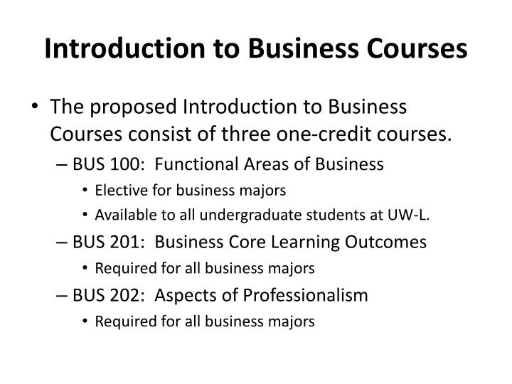 introduction to business courses n.