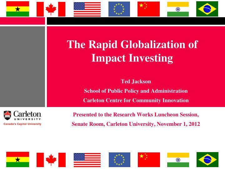 the rapid globalization of impact investing n.