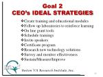 goal 2 ceo s ideal strategies