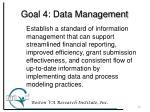 goal 4 data management