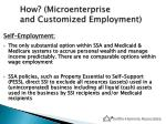 how microenterprise and customized employment1