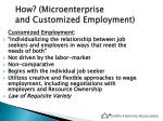 how microenterprise and customized employment2