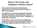 what is the assets and neighbors initiative about