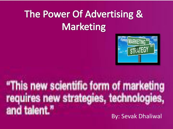 the power of advertising marketing n.
