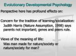 evolutionary developmental psychology1