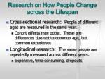 research on how people change across the lifespan