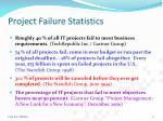 project failure statistics