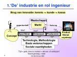 1 de industrie en rol ingenieur