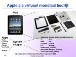 apple als virtueel mondiaal bedrijf