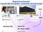 bedrijvennetwerk2 leuven bio incubator innovatie verschuiving