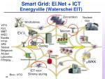 smart grid el net ict energyville waterschei eit