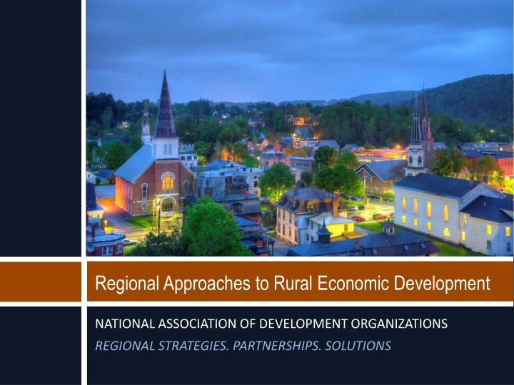 regional approaches to rural economic development n.