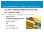 vha business architecture repository release overview