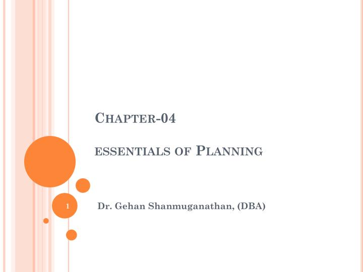 chapter 04 essentials of planning n.