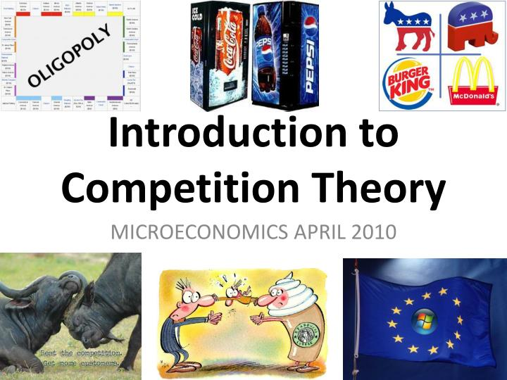 introduction to competition theory n.