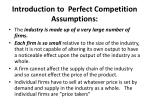 introduction to perfect competition assumptions