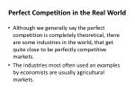perfect competition in the real world