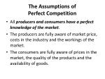 the assumptions of perfect competition2