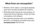 what firms are monopolies