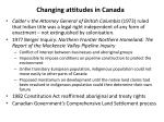 changing attitudes in canada