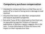 compulsory purchase compensation