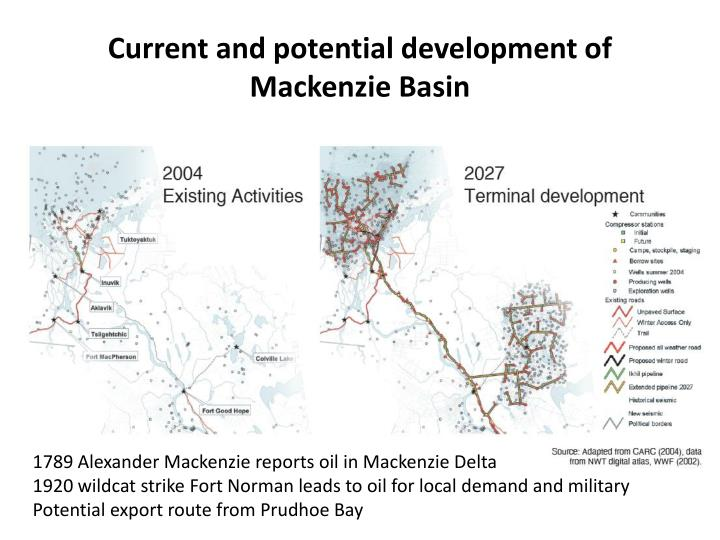 Current and potential development of Mackenzie Basin