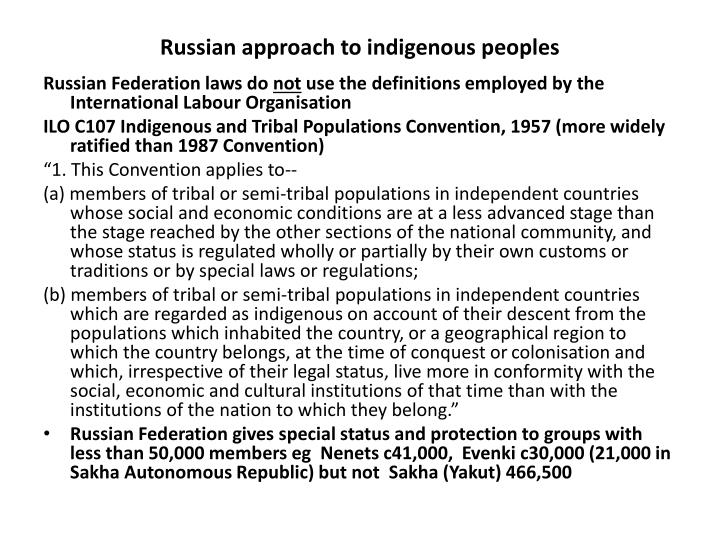 Russian approach to indigenous peoples