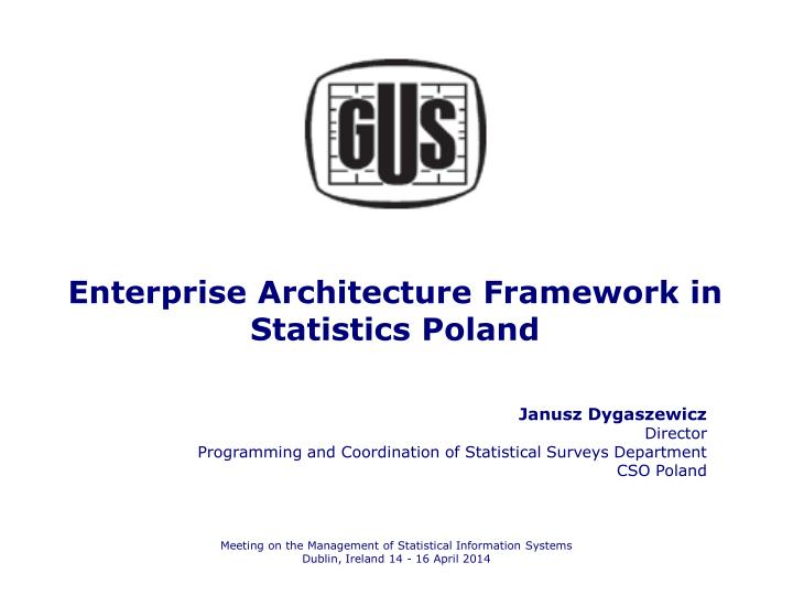 enterprise architecture framework in statistics poland n.