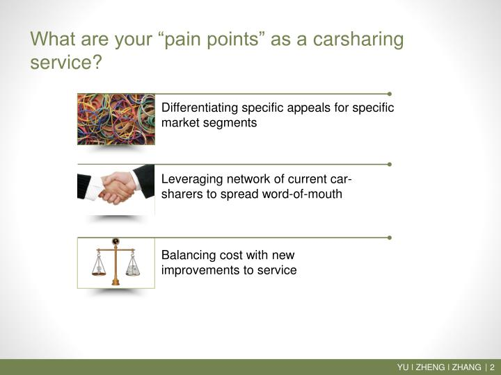 What are your pain points as a carsharing service