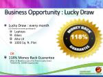 business opportunity lucky draw