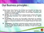 our business principles
