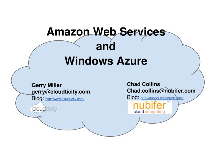 amazon web services and windows azure n.