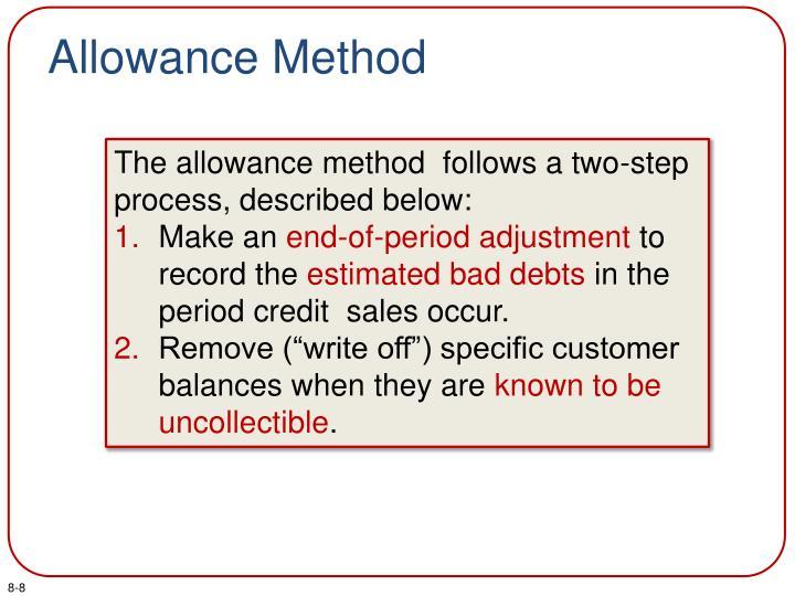 Allowance Method