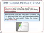 notes receivable and interest revenue
